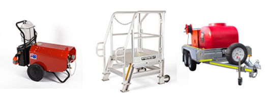 Hire Pressure Cleaner, Steprite Access Platform and Pressure Cleaning Trailer