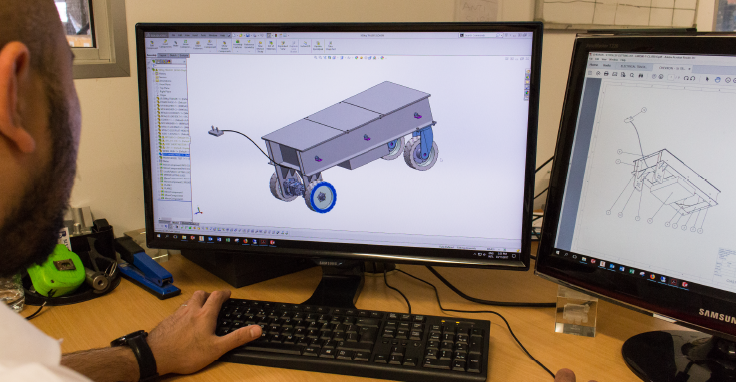 Draftsman Working on Inventor CAD