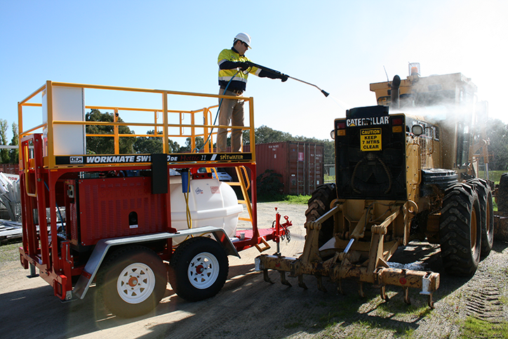 Pressure Cleaning Trailer Cleaning Bulldozer