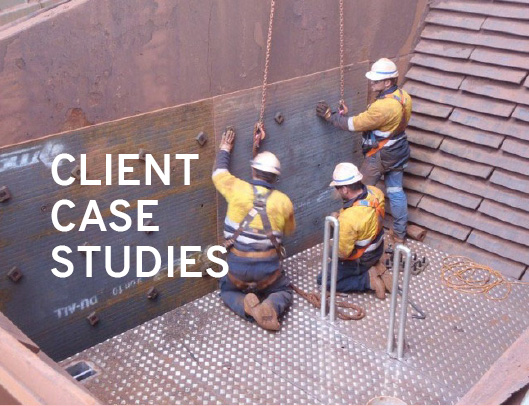 Fine Ore Filter Safety Maintenance with Steprite Custom Access Platform