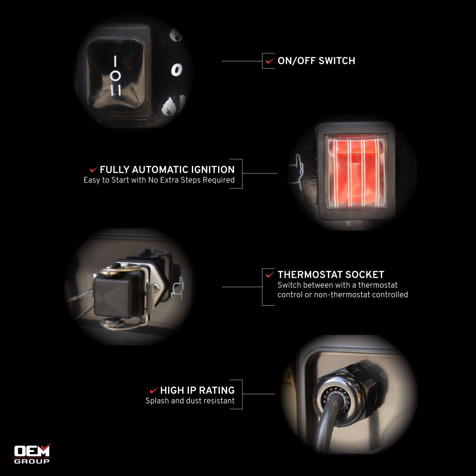 Jetfire J45A Heater Feature Descriptions