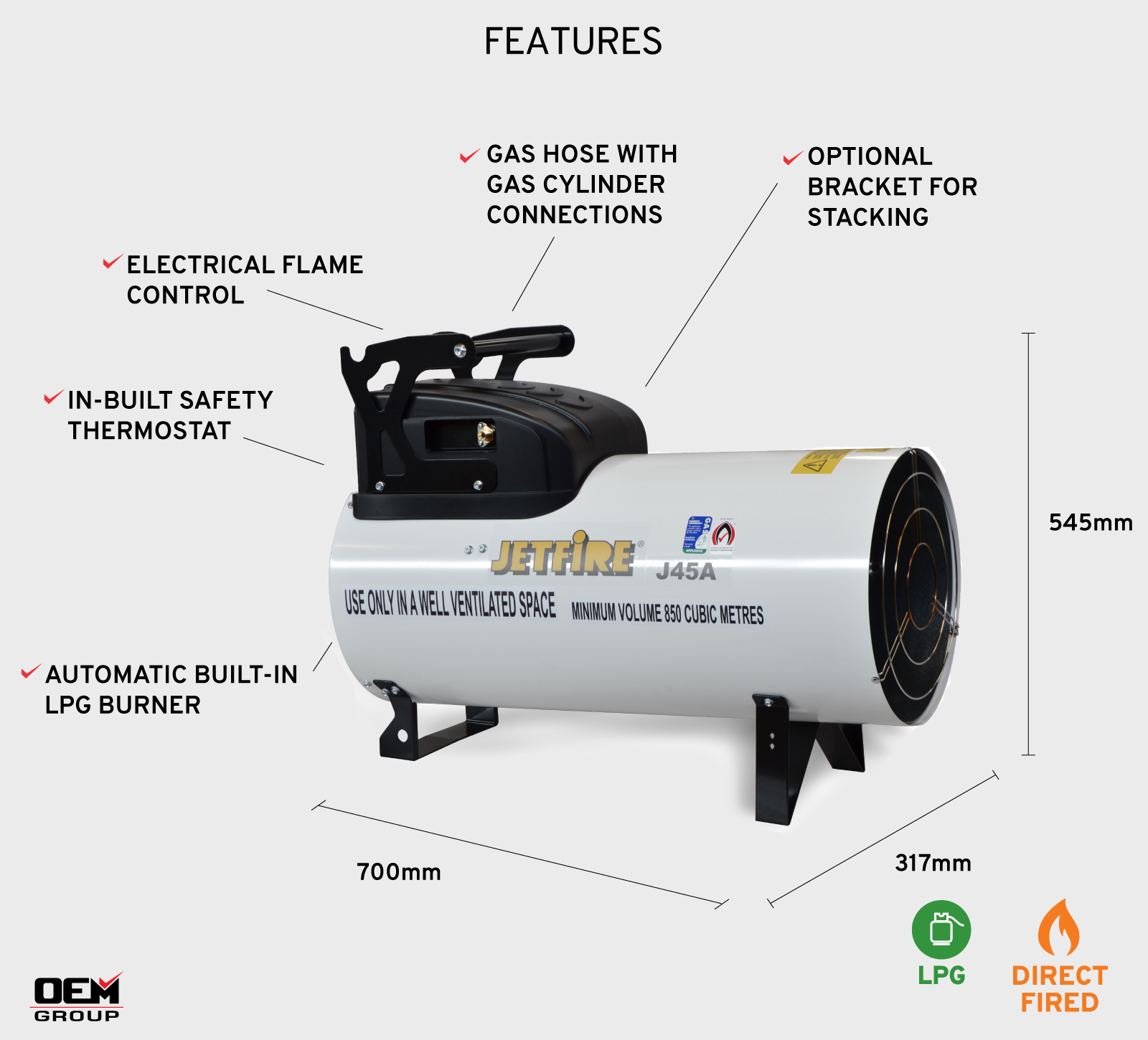 Jetfire J45A Heater Feature Annotated