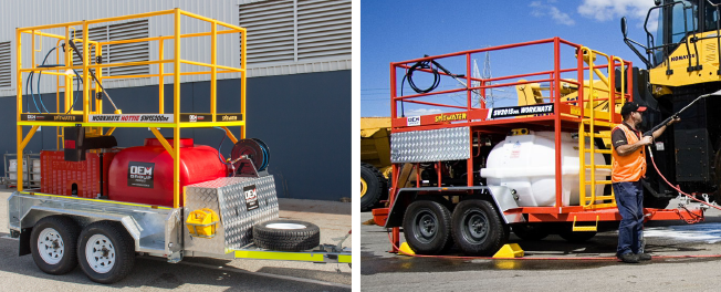 Hottie IV and Workmate Hottie Pressure Cleaning Trailers