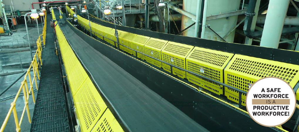 Diacon Safety and Productivity System in use on Conveyors.
