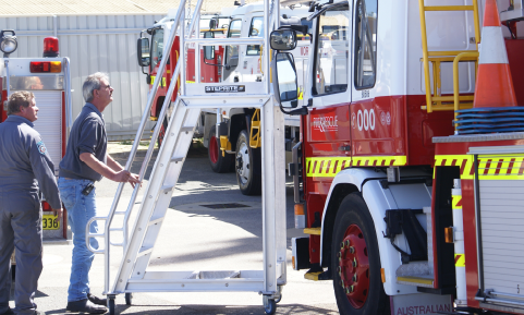 Steprite In Use by the Australian Fire Department in Fire Truck Maintenance