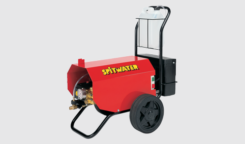 Spitwater Electric Cold Water Pressure Cleaner for Hire on Grey Background
