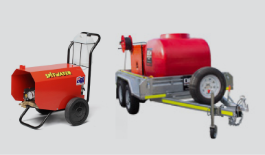 Spitwater Pressure Cleaner and Trailer