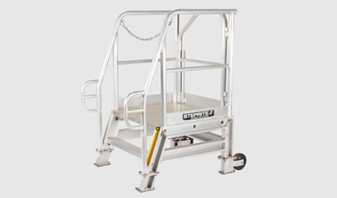 Steprite Brand Safety Access Platform for Hire on Grey Background