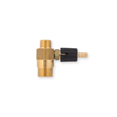 Chemical Injector PA Part for Spitwater Male Male Transparent