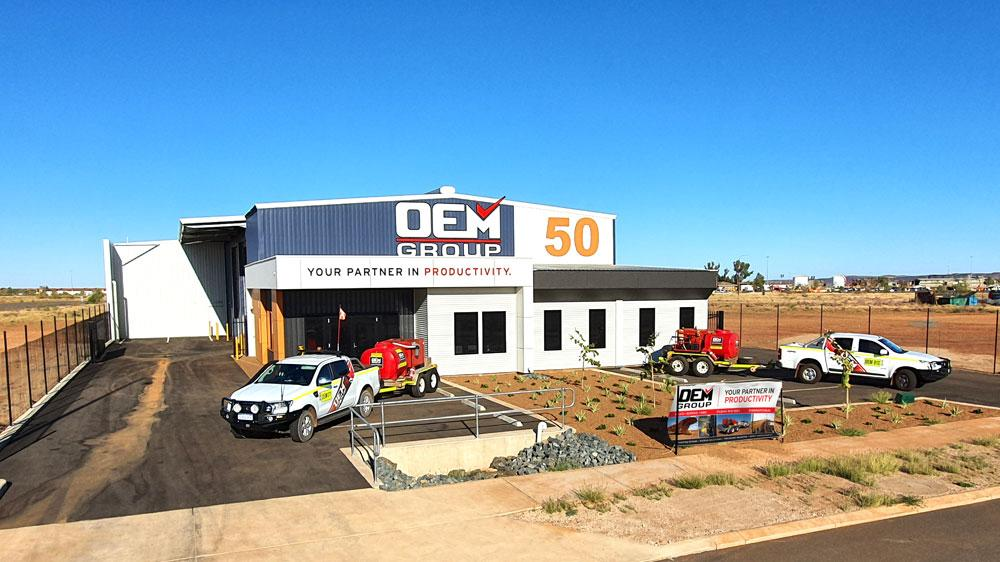 frontage of OEM Group Pilbara showroom
