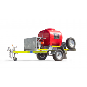 TSA-15210DEM High Pressure Cleaning Trailer Single Axle on White Background Product Shot