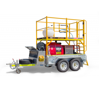 Workmate Hottie - White Background - Pressure Cleaning Trailer