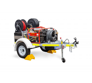 Wombat Jetter - Spitwater Jetting Trailer - White Background