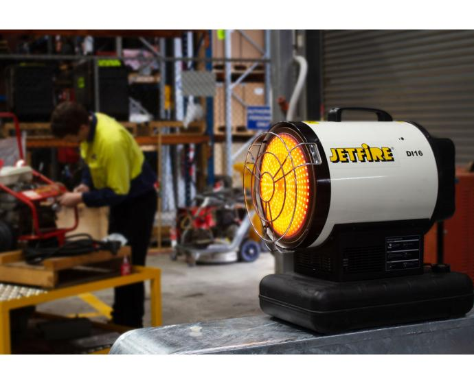 Jetfire DI16 Commercial Diesel Heater Heating Workshop