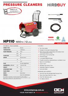 Spitwater HP110_Product Flyer