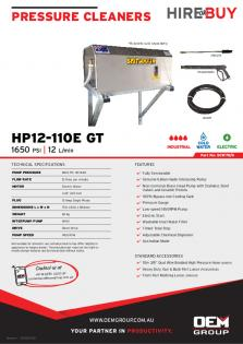 Spitwater HP12-110E GT_Product Flyer