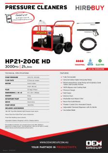 Spitwater HP21-200E HD_Product Flyer