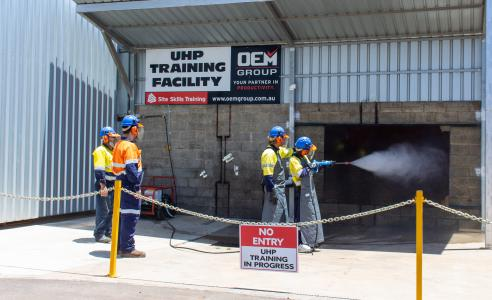 High Pressure Cleaning Training at the OEM Group with Instructor