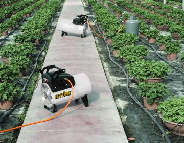 jetfire space heaters in a greenhouse